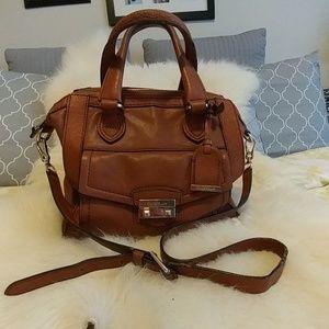 Cole Haan brown leather shoulder bag